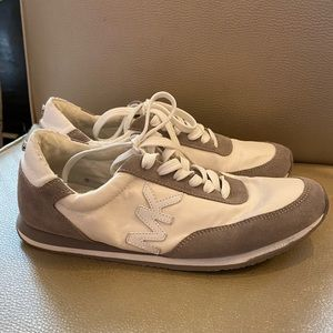 Michael Kors White Gray Suede Running shoe